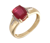 Ring 585GG Rubin, Saphir