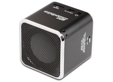 1-2-3.tv Mini Lautsprecher schwarz