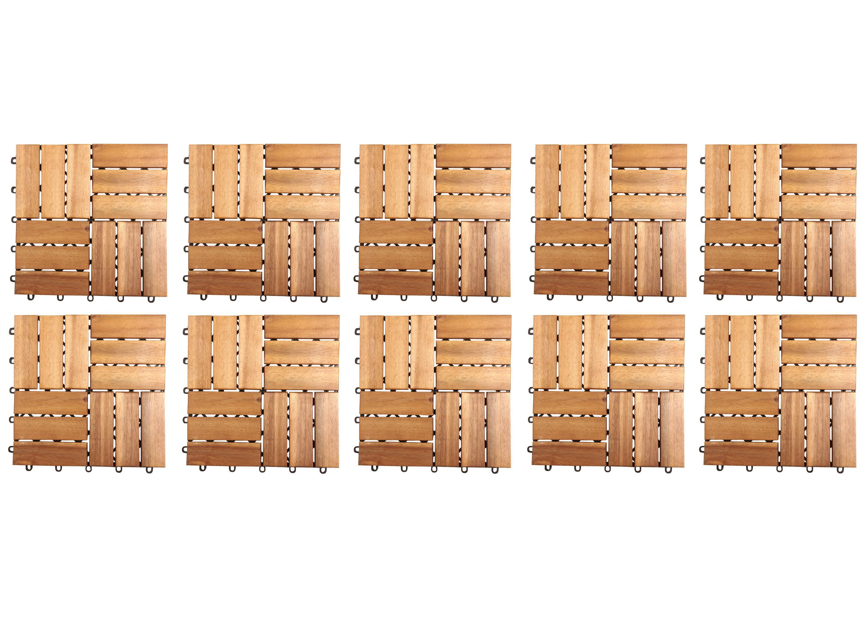 10er set holzfliesen akazie m bel. Black Bedroom Furniture Sets. Home Design Ideas