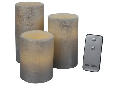 1-2-3.tv 3x flammenlose LED Kerze