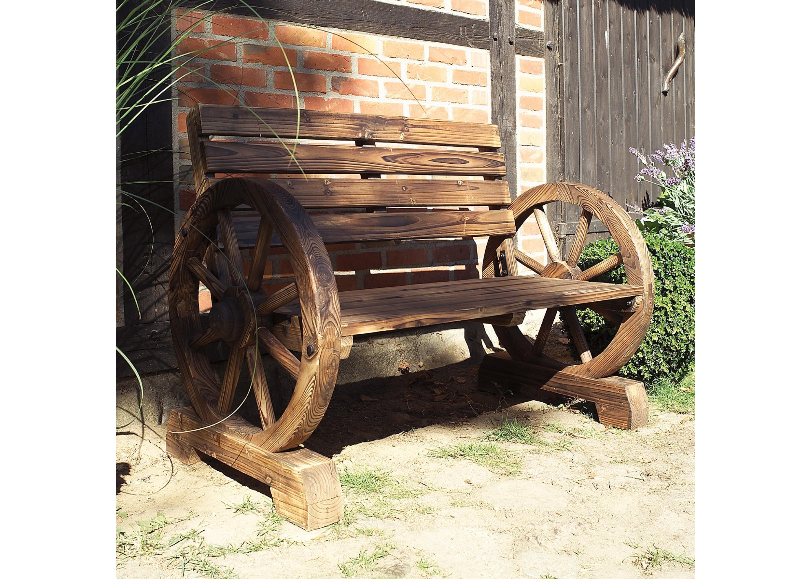 Gartenbank wagenrad aus m bel for Wagenrad dekorieren