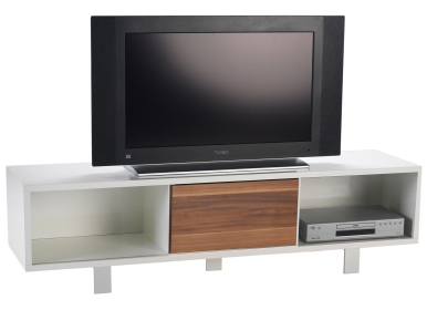 lowboard weiss nussbaum dekor tv hifi m bel. Black Bedroom Furniture Sets. Home Design Ideas