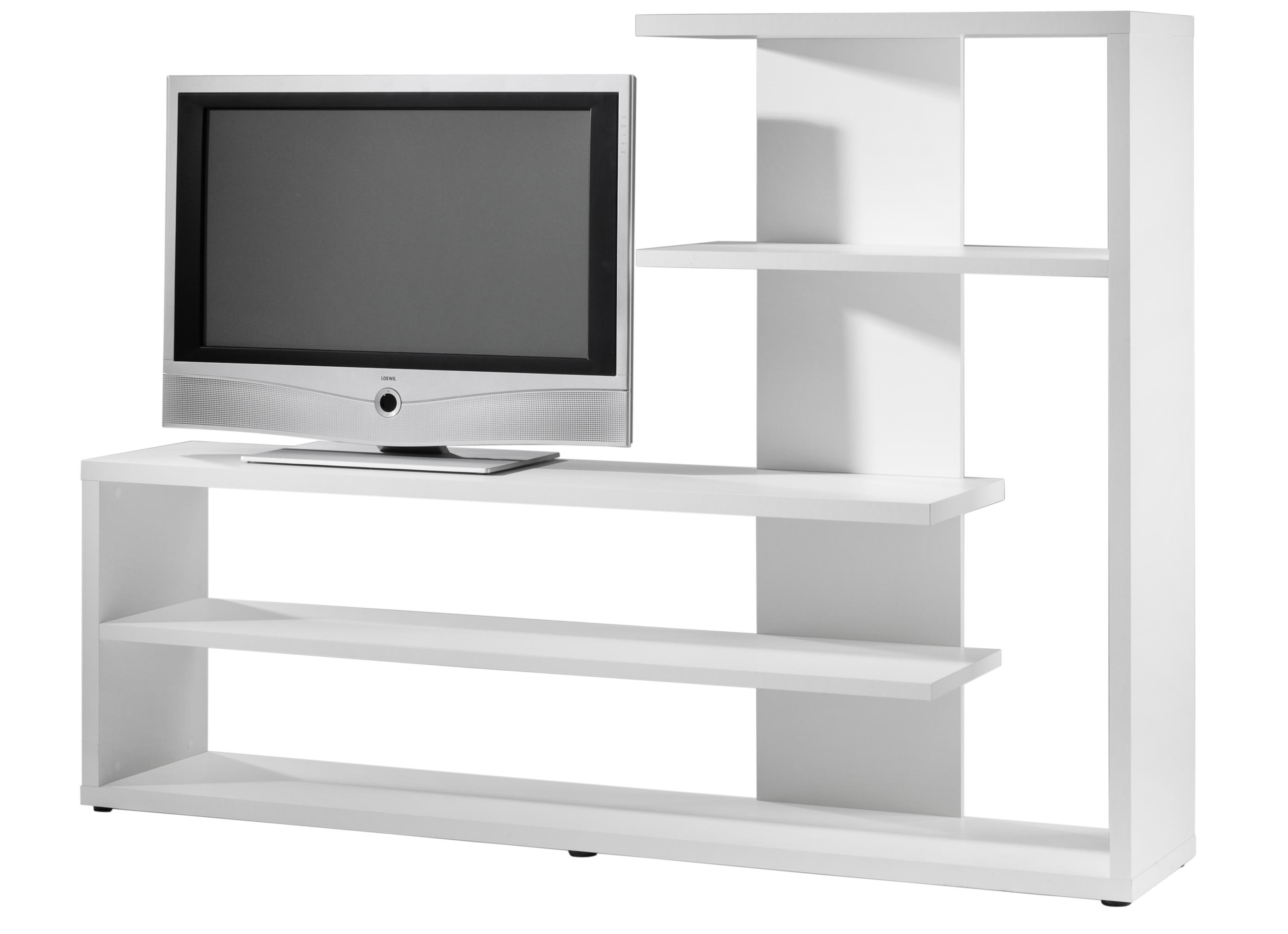 tv regal weiss matt dekor. Black Bedroom Furniture Sets. Home Design Ideas