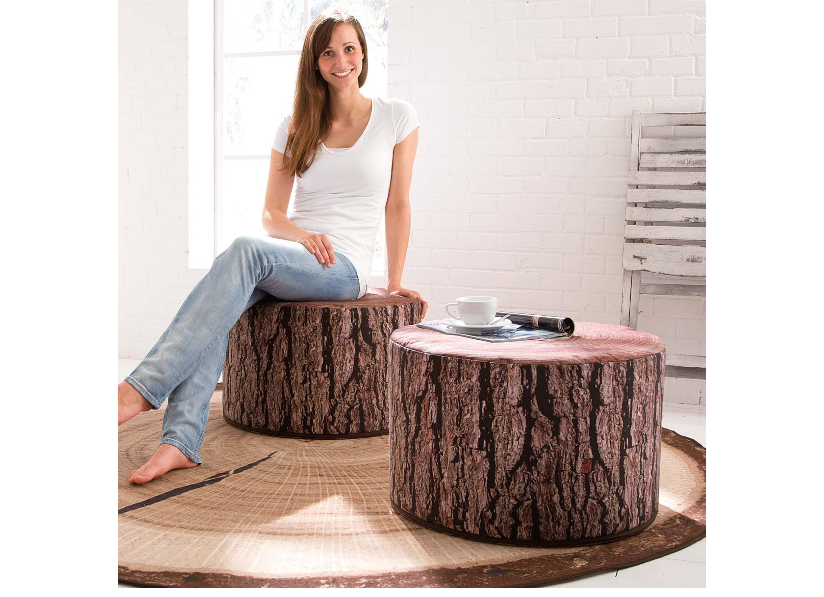 hocker baumstamm st hle. Black Bedroom Furniture Sets. Home Design Ideas