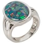 Ring Sterling Silber, Mosaikopal Triplette 21 - 100028100004 - 1 - 140px