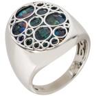 Ring Sterling Silber, Mosaikopal Triplette 18 - 100028300001 - 1 - 140px