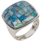 Ring Sterling Silber, Mosaikopal Triplette 19 - 100028600002 - 1 - 140px