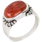 Ring 925 St. Silber Schaumkoralle rekonstruiert   - 100035600000 - 1 - 140px