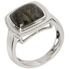 Ring 925 Sterling Silber rhodiniert Matrix Opal