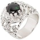 Ring 925 Sterling Silber rhodiniert Opal schwarz 18 - 100065100001 - 1 - 140px