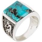 Ring 925 Sterling Silber Türkis stabilisiert 18 - 100072600001 - 1 - 140px