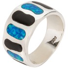 Ring 925 Sterling Silber, Opal Dublette, Onyx 21 - 100072700004 - 1 - 140px