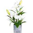 Lilienarrangement weiß, 50 cm - 100086200000 - 1 - 140px