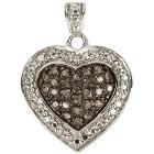 Herzanhänger 925 Sterlign Silber Diamanten - 100090600000 - 1 - 140px