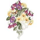 Plauener Spitze Fensterbild 'Blumen' - 100145400000 - 1 - 140px