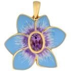 Anhänger 925 St. Silber vergoldet Amethyst Blume - 100153400000 - 1 - 140px