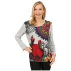 Damen-Pullover 'Girona' rot/multicolor