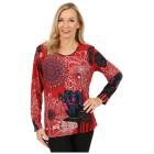 Damen-Pullover 'Pamplona' rot/multicolor 46/48 3/4XL - 100165400003 - 1 - 140px
