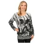 Damen-Pullover 'Almeria' weiß/schwarz 46/48 3/4XL - 100165800003 - 1 - 140px