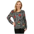 Damen-Pullover 'Oviedo' schwarz/rot 38/40 M/L - 100166300001 - 1 - 140px