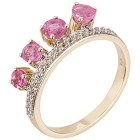 Ring 375 Gelbgold pink Saphir behandelt