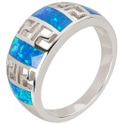 Ring 925 Sterling Silber Opal synthetisch 21 - 100213200004 - 1 - 140px