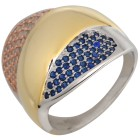 Ring 950 Silber tricolor m. Zirkonia 19 - 100217000002 - 1 - 140px