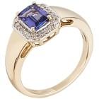 STAR Ring 585 Gelbgold AAAATansanit, Diamanten 19 - 100227200002 - 1 - 140px
