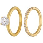 Ring Set 925 Sterling Silber vergoldet Zirkonia 20 - 100245600003 - 1 - 140px