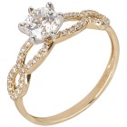Ring 585 Gelbgold Zirkonia Swarovski 18 - 100273700002 - 1 - 140px