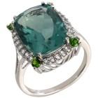 Ring 925 Sterling Silber Flourit, Chromdiopsid 21 - 100305100004 - 1 - 140px