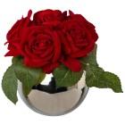 Rosenbouquet in Silbervase, 21 cm - 100390100000 - 1 - 140px