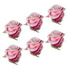 Rosenclips gefrostet 6er rosa - 100390500000 - 1 - 140px