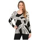 IMAGINI Feinstrick-Pullover 'Prioli' schwarz/weiß