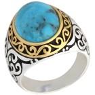 Ring 925 St. Silber bicolor Türkis Gr. 21 - 100474800004 - 1 - 140px