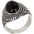 Ring 925 Sterling Silber Onyx oval