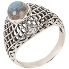 Ring 925 Sterling Silber Labradorit 19 - 100535300002 - 1 - 140px