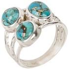 Ring 925 Sterling Silber Türkis stabilisiert 19 - 100536300002 - 1 - 140px