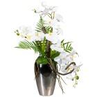 Orchideen-Arrangement, weiß, 70 cm