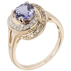 Ring 585 Gelbgold AAA Tansanit 20 - 100613600004 - 1 - 140px