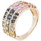 Ring 585 Gelbgold Saphir multicolor 17 - 100614400001 - 1 - 140px