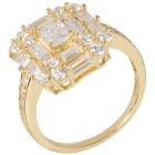 Ring 925 Silber vergoldet, Zirkonia