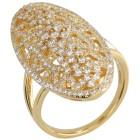Ring 925 Silber vergoldet Zirkonia   - 100620400000 - 1 - 140px
