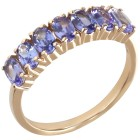 Ring 375 Gelbgold, AA Tansanit