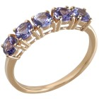 Ring 375 Gelbgold AA Tansanit 17 - 100666800001 - 1 - 140px