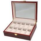 Uhrenbox für 10 Uhren, Mahagoniholz-Optik - 100702800000 - 1 - 140px