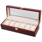 Uhrenbox für 6 Uhren, Mahagoniholz-Optik - 100703000000 - 1 - 140px