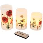 LED-Kerzen Mohnblumen, 3er Set - 100765300000 - 1 - 140px