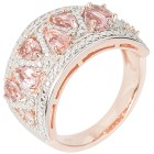 Ring 925 Sterlingsilber rosé vergoldet Turmalin