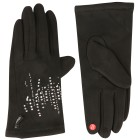 Damen-Handschuhe Diamond Stripes schwarz one size - 100858200000 - 1 - 140px